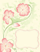Watercolor Flowers — Vector de stock