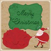 サンタのクリスマス カード — ストックベクタ