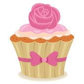 Valentine��s Day cupcake — Vector de stock