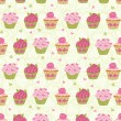 Cupcakes Pattern — Stock Vector #19949671