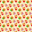 Cupcakes Pattern - Stock Vector