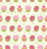 Cupcakes Pattern — Stock Vector