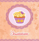 Cupcake Card — Stock Vector