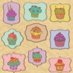 Cupcakes Set — Stock Vector #23877969
