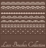 Laces Brushes Set — Stock Vector