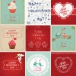 Valentine's Day Cards Collection — Stock Vector