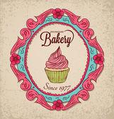 Vintage bakkerij — Stockvector