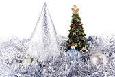 Cristmas tree on New Year toys — Stock Photo