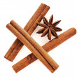 Star anise and cinnamon — Stock Photo