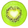Royalty-Free Stock Photo: Kiwi slice isolated on white