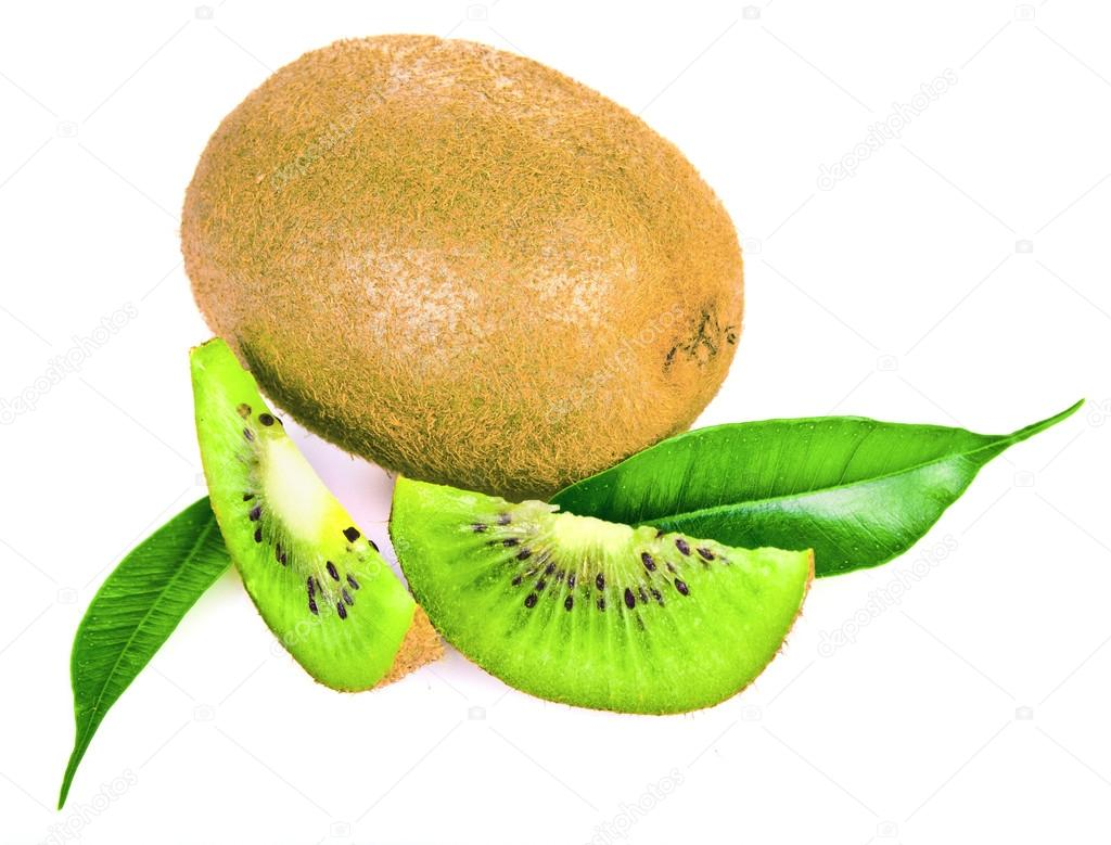 Kiwi slice isolated on white  — Stock Photo #13889068