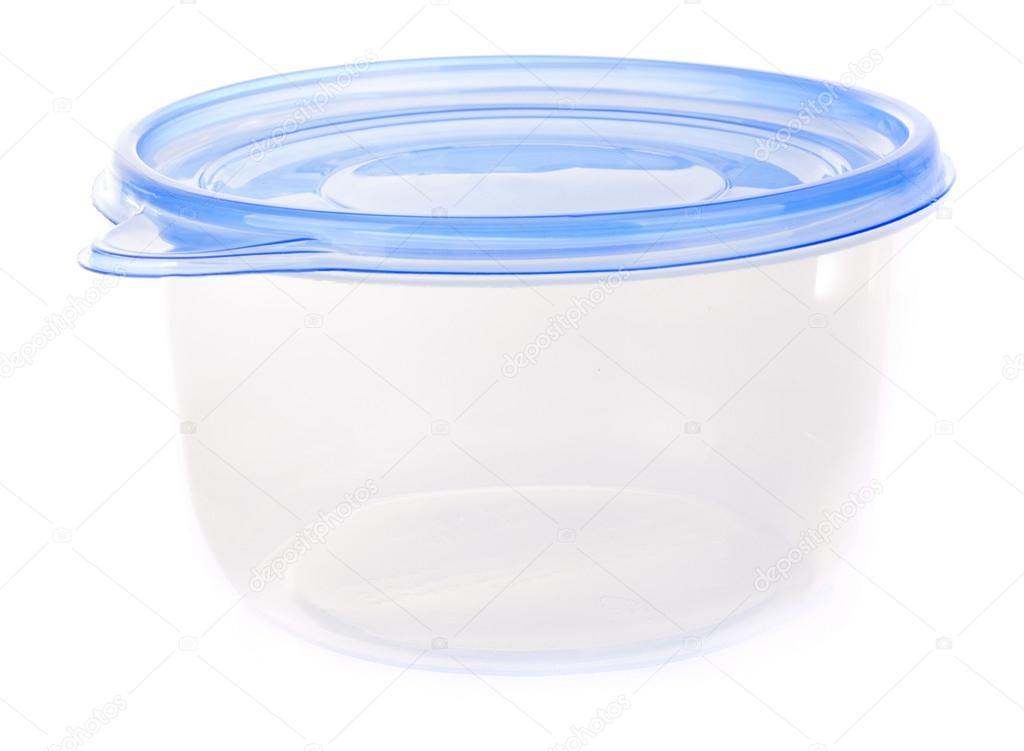 Plastic container for food isolated on white  Stock Photo #15776471
