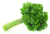 Fresh bunch of parsley isolated on white — Stockfoto