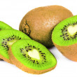 Stock Photo: Kiwi slice isolated on white