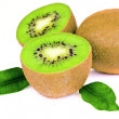 Kiwi slice isolated on white — Stock Photo #20154123