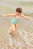 Girl, child, fun, water — Stock Photo