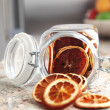 Dried fruits oranges placed in the jar — Stock Photo
