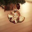 Angel Christmas ornament hanging on the Christmas tree - Christmas ornament — Stock Photo
