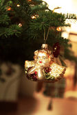 Angel Christmas ornament hanging on the Christmas tree - Christmas ornament — 图库照片