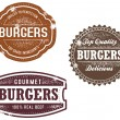 Vintage Style Burger Stamps — Stock Vector #18870229