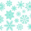 Vector Snowflake Collection — Stock Vector