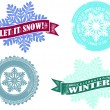 Let it Snow Winter Graphics — Stock Vector