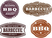 Vintage Style Barbecue Stamps — Stock Vector