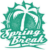 Spring Break Vacation Graphic — Stock Vector