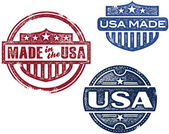 Vintage Made in USA Stamps — Stock Vector