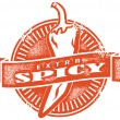 Royalty-Free Stock Vector Image: Extra Spicy Food Stamp