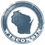 Wisconsin State Stamp — ストックベクタ #21532553