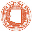 Arizona State Stamp — Stock Vector