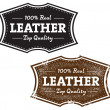 Real Leather Product Stamp — Stock Vector