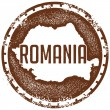 Vintage Romania Country Stamp — Stock Vector