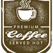 Vintage Premium Coffee Menu Sign — Stock Vector
