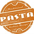 Vintage Pasta Menu Stamp — Stock Vector