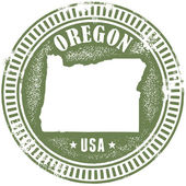 Vintage Oregon State Stamp — Stock Vector