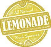 Vintage Lemonade Stamp — Stock Vector