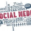 Royalty-Free Stock Vektorgrafik: Social Media Word Cloud