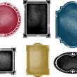 Vintage Distressed Vector Frames — Stock Vector