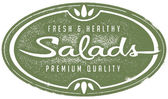 Vintage Fresh Salads Menu Graphic — Stock Vector