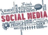 Social Media Word Cloud — Stock Vector