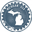 Vintage Usa Michigan state Briefmarke — Stockvektor