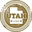 Vintage Style Utah USA Stamp — Stock Vector