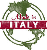 Vintage Made in Italy Stamp — Stock Vector