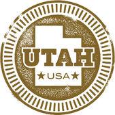 Vintage Style Utah USA Stamp — Stock Vector
