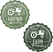 Frsh 从农场和当地生长 — 图库矢量图片
