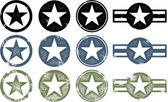 Grunge Military Stars — Stockvector
