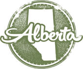 Alberta Canada Stamp — Stock Vector