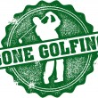 Gone Golfing Vintage Stamp Sign — Stock Vector